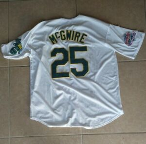 New!! Oakland Athletics A's Mark McGwire #25 White 1989 World Series Jersey XXL