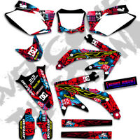 2013 2014 2015 2016 HONDA CRF 450R NIGHTRIDER : MAGENTA / CYAN GRAPHICS DECALS