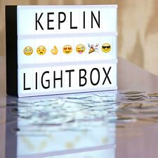 KEPLIN® 120 Characters/EMOJIS, Storage USB LEAD Light Up Your Life Letter Box