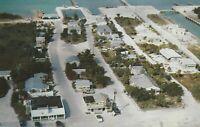 A) Marathon, FL - Halls Camp & Motel - Bird's Eye View of Property on Waterfront