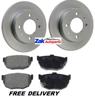 FOR HYUNDAI COUPE 2002-2010 1.6 2.0 2.7 TWO REAR BRAKE DISCS AND PADS SET NEW