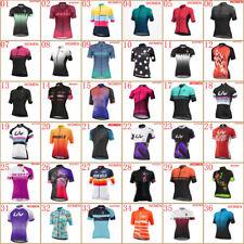 Women Cycling Jersey Summer Team Bike Clothes Short Sleeve Shirt Riding Clothing