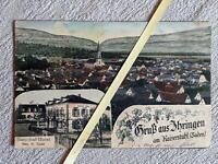 Ihringen am Kaiserstuhl - Ortsansicht mit Kirche - Bahnhof - Hotel 1916