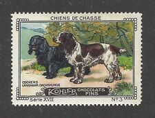 1931 France Cailler Kohler Dog Art Trade Card English Cocker & Field Spaniel