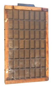 RUSTIC DRAWER converted into hanging display case - 49 compartments +