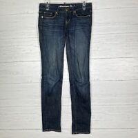 American Eagle Stretch Skinny Jeans Womens Sz 2 Dark Wash