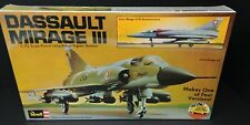 Revell Dassault Mirage III, 1976 Vintage Kit French Long Range Fighter Jet 1/72