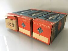 3x Telefunken CC2 triode tubes - AD1 driver, NEW, boxed (13V variant of AC2) S