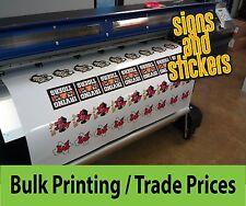 Il commercio Custom Adesivo Stampa Business Service KISS Cut Vinyl ETICHETTE BULK