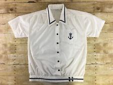 Vtg Gitano Sailor Shirt Top Jacket Medium Oversized Boating Sailing Nautical 90s