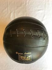 Vintage Everlast Black Leather Medicine Ball 8 lb