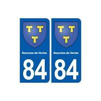 84 Beaumes-de-Venise  blason autocollant plaque stickers ville arrondis