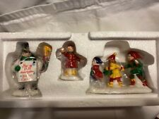 """Dept 56 Snow Village 1997 """"He Led Them Down The Streets Of Town"""" 1999"""