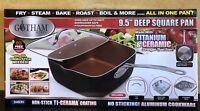 "Gotham Steel 9.5"" Non-Stick Titanium & Ceramic Deep Frying Cooking Pan NEW"