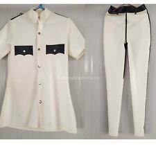 100% Latex Rubber Men Gummi Handsame Police Uniform Coats and Pants Suit XXS-XXL