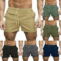 Men's Joggers Shorts Sweatpants Training Short Pants Gym Casual Summer Trousers