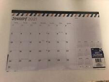 "New listing 2021 Monthly Desk Pad Calendar 11"" x 17"" Organizer Planner - Festive Stripe New"