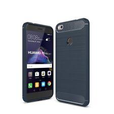 Huawei P8 Lite 2017 Carcasa TPU Fibra de Carbono Óptica Brushed Motivo Funda