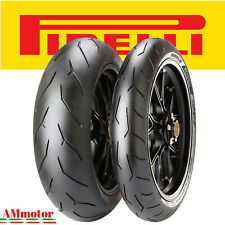 Pirelli Diablo Rosso Corsa 120 70 zr 17 180 55 zr 17 Set Gomme Pnaumatici Moto