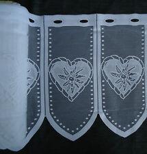 - 45cm Scheibengardinen bistro kurz Gardine Vorhang mit Herzchen 6,95€/m