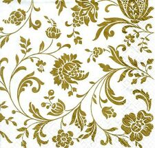 20 Golden Wedding Napkins 50th Anniversary Gold Serviettes Lovely 3 Ply Quality
