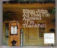 (L58) Elton John, All That I'm Allowed - CD