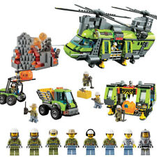 Brand New Custom City Volcano Heavy-lift Helicopter Compitible Lego 60125