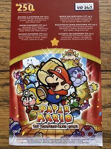 Paper Mario The Thousand Year Door Nintendo VIP Points Non Scratched Un-used