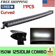 CURVED 31inch 150W Single Row CREE LED Light Bar 3D Lens Offroad 4WD ATV JEEP 30