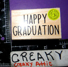HAPPY GRADUATION RUBBER STAMPS HERO ARTS E5993