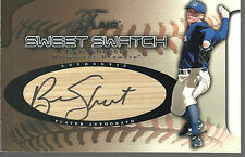 2002 FLAIR SWEET SWATCH BEN SHEETS AUTO BAT /85 MILWAUKEE BREWERS 27 Rookie Lot