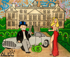 Alec monopoly Handcraft Oil Painting on Canvas,JESSICA PARKED FRONT MANSION24×30