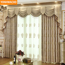 luxury embroidered simple European coffee cloth curtain valance drapes N852
