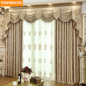 luxury embroidered simple European coffee cloth curtain valance drapes N852*