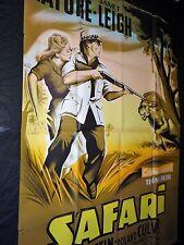 SAFARI  !  victor mature janeth leigh  affiche cinema afrique lion mascii