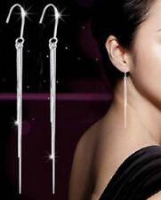 Silver Plated Long Dangle Bohemian Earrings Tassel Stud Pierced Ears E143 UK