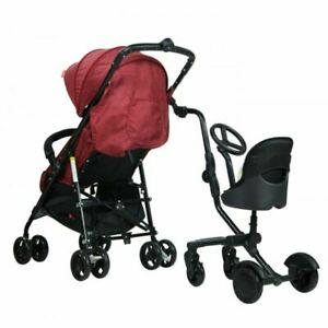 Uptown Rider 4 Wheel Ride on Board + Toddler Seat Universal Fit for Prams & Stro
