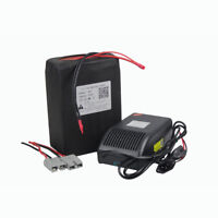 48V 20Ah Li-ion Battery Pack for Rechargeable 1000W EBike Scooter + Charger BMS