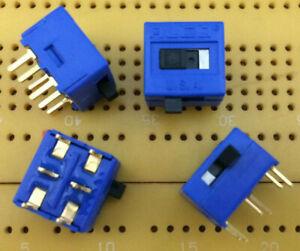 0.4VA 20V DPDT Slide Switch On-On Gold Instrumentation Right Angle PCB Multi Qty