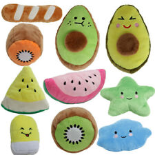 10x Set Dog Fruit Toy Play Funny Pet Puppy Chew Squeaker Squeaky Cute Plush Toys