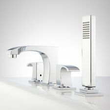 Signature Hardware 423026 Montevallo Roman Tub Faucet and Hand Shower in Chrome