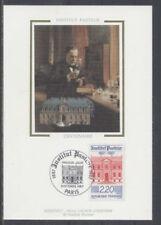 FRANCE FDC - 2496 5 INSTITUT PASTEUR - 3 Octobre 1987 - LUXE sur soie