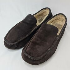 UGG Ascot Slippers Men's Size 12 Moccasin Suede Leather Sheep Skin Lining 5396