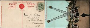 1908 Valentines Postcard Franco British Exhibition London Cancel Flip-Flap