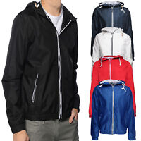 Soulstar Mens Renty Jacket Lightweight Hooded Waterproof Windbreaker Rain Coat