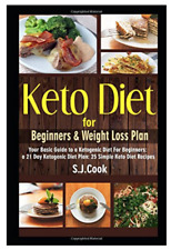 Keto Diet Cook Books Recipe For Beginners Guide Easy Weight Loss Meal Plan New
