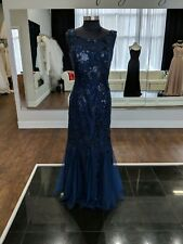 Size 8 Navy Blue mermaid mother's dress