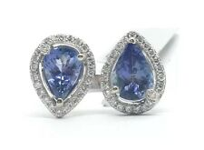 14k White Gold Tanzanite and Diamond Ring 3.17CTTW 5.00Grams Size 7