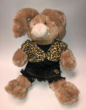 Build-A-Bear Brown Bunny with Bendable Ears and Leopard Print Outfits