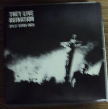 """THEY LIVE/RUINATION split 7"""" OOP early-00's hardcore-punk Dead Alive"""